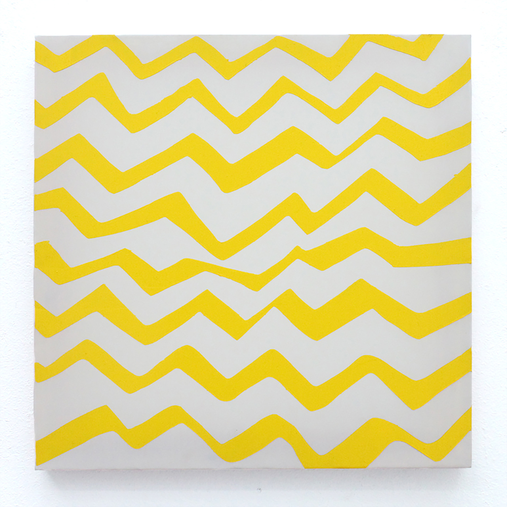 Yellow yellow . Oil on Polyester, 42 x 42cm, 2014