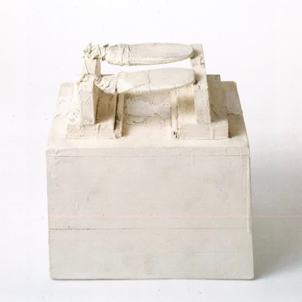 Untitled (New York, 1955). Wood, cloth, nails, house paint. 11 5/8 x 12 x 7 ¼ in.