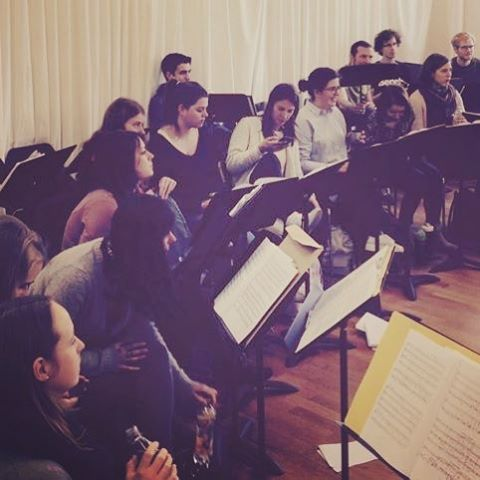 Die Proben gehen los! #tiefederseele #acappella #figurehumaine #denisrouger #stuttgart #choir