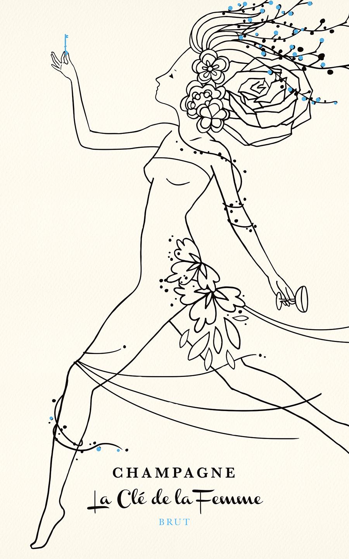 Ch&agne-Poster-White-web.jpg  sc 1 st  Sara Argue Design & Sara Argue Design : La Cle de la Femme Champagne