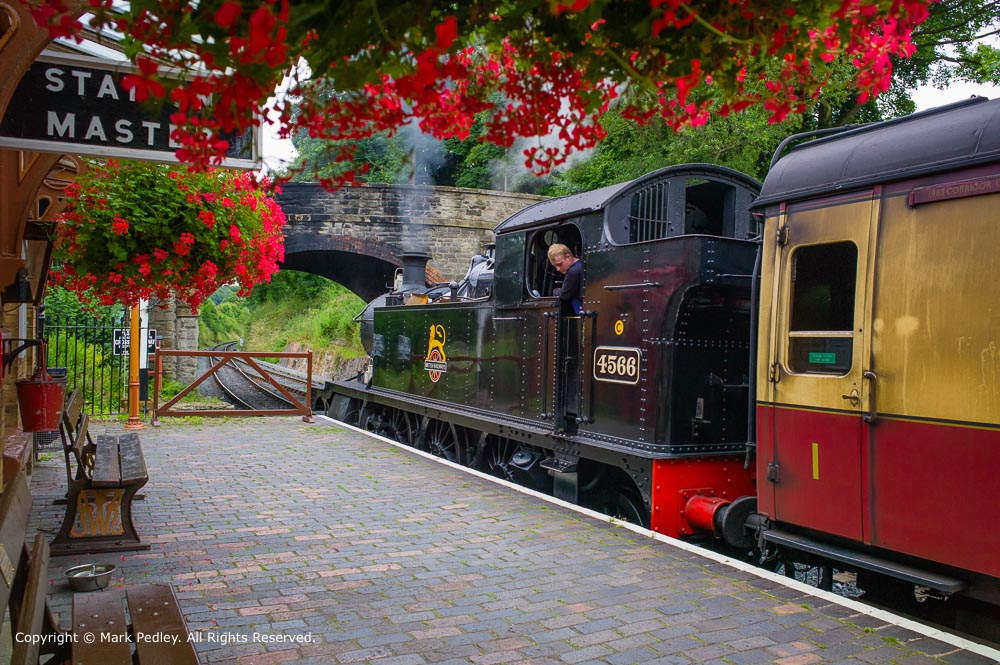 Arley Station, Severn Valley Railway, Arley, Worcestershire, UK.