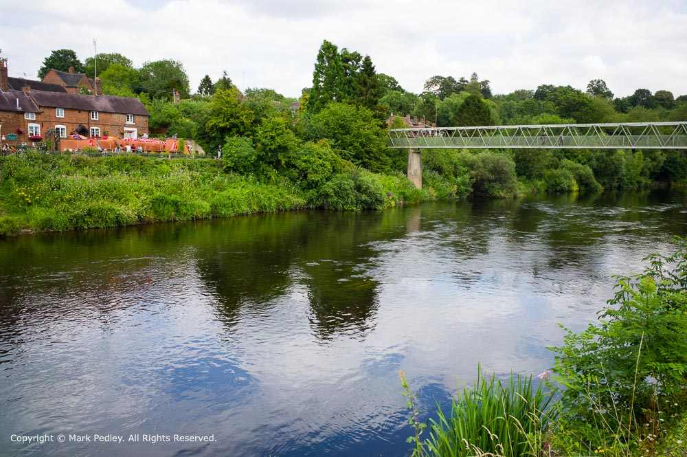 Bridge over the River Severn at Arley, Worcestershire, UK.