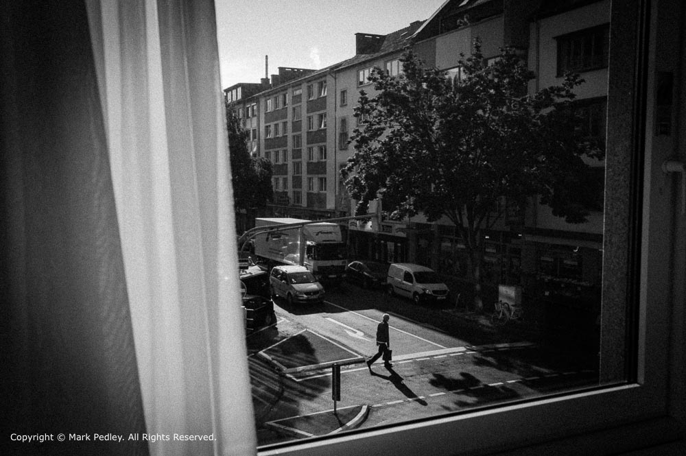 View from a hotel room, Coblenz, Germany.