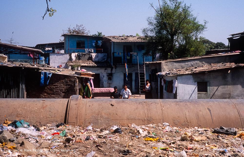 Sewage pipe,Mumbai, India.