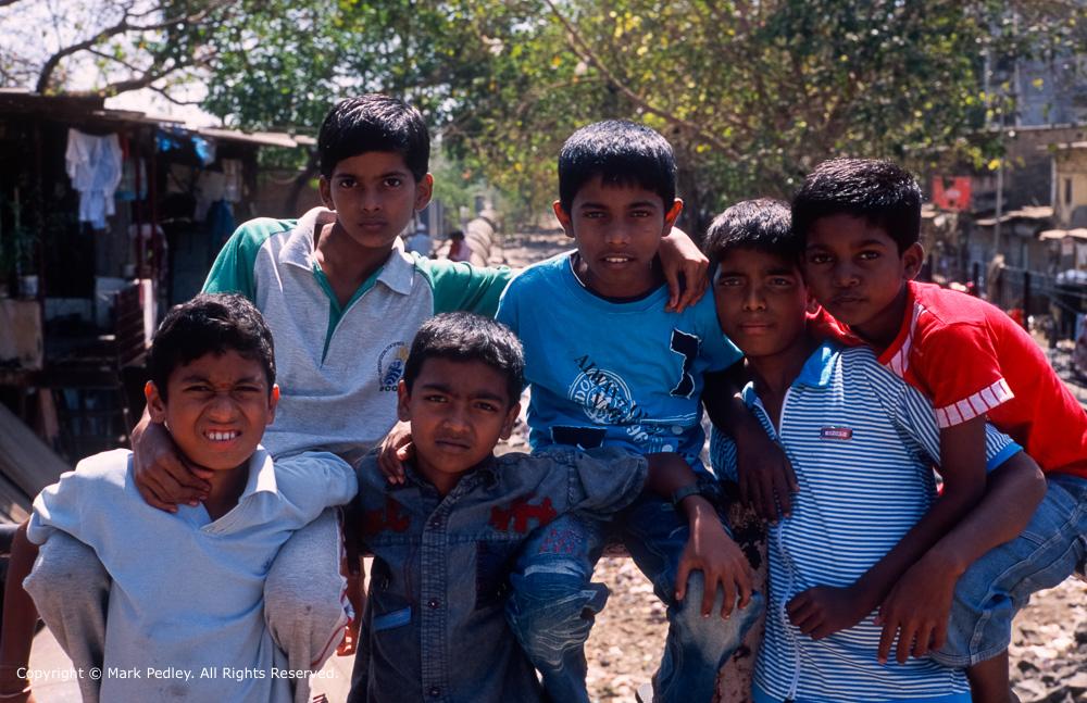 Young friends, Mumbai, India.