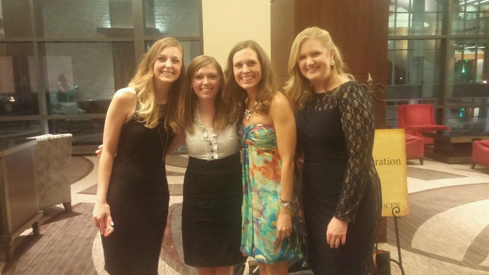 New writing friends at Saturday night's Award Gala!