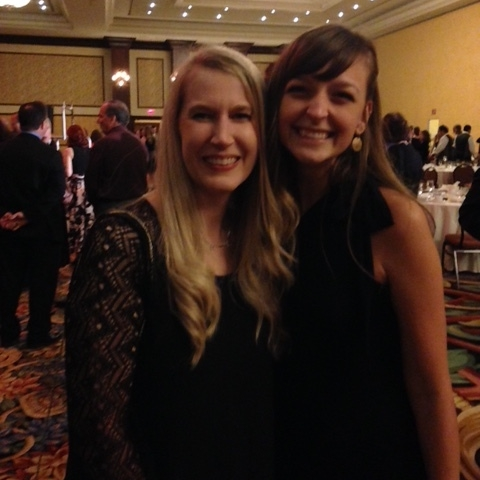 With Shelli at the awards gala