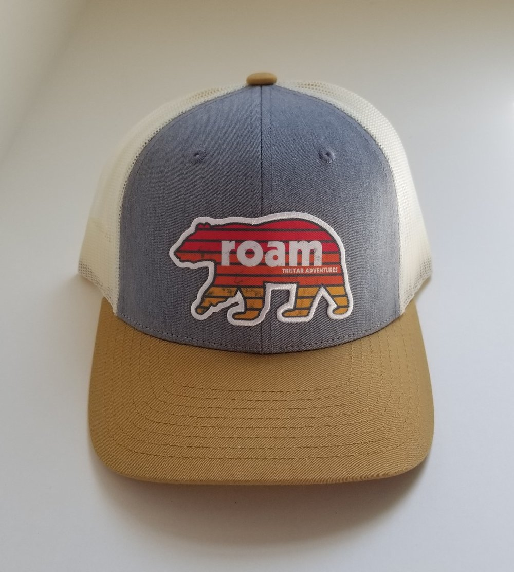 gray trucker hat tristar adventures tennessee roam bear.jpg