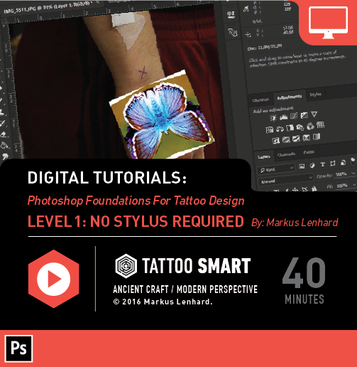 Check out Tattoosmart.com - great tutorials, introducing digital workplace for modern tattoo artists