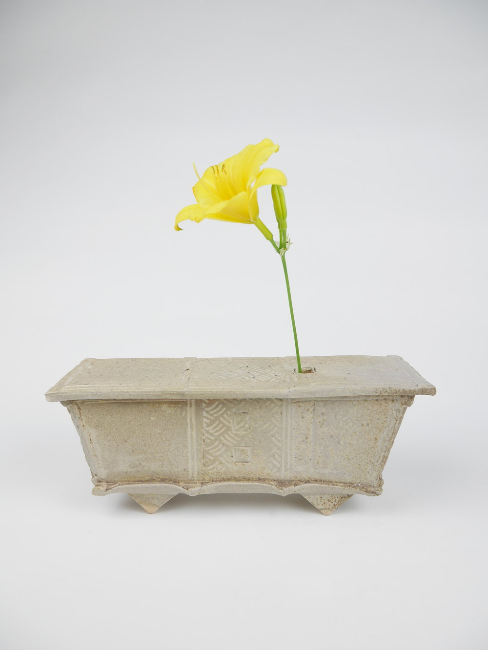 "Charity Rust-Jordan Advanced Spatial Arts, Spring 2017 Ikebana Wood-fired white stoneware 12"" x 4"" x 4"""
