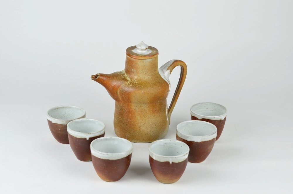 "Hadassah Ward Advanced Spatial Arts, Spring 2017 Tea Set Wood-fired stoneware, glaze 8"" x 12"" x 1/2"""