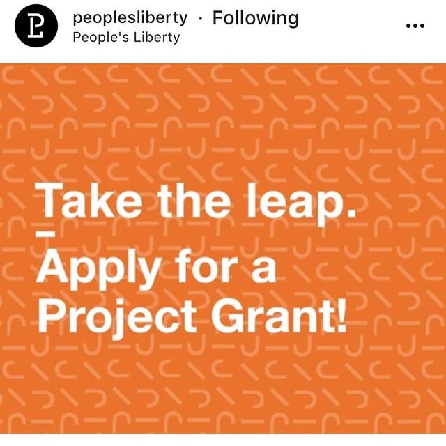 Tomorrow evening: People's Liberty Project Grant Information Session 5:30PM Wednesday, March 21 Link: https://www.facebook.com/events/396620524143923/