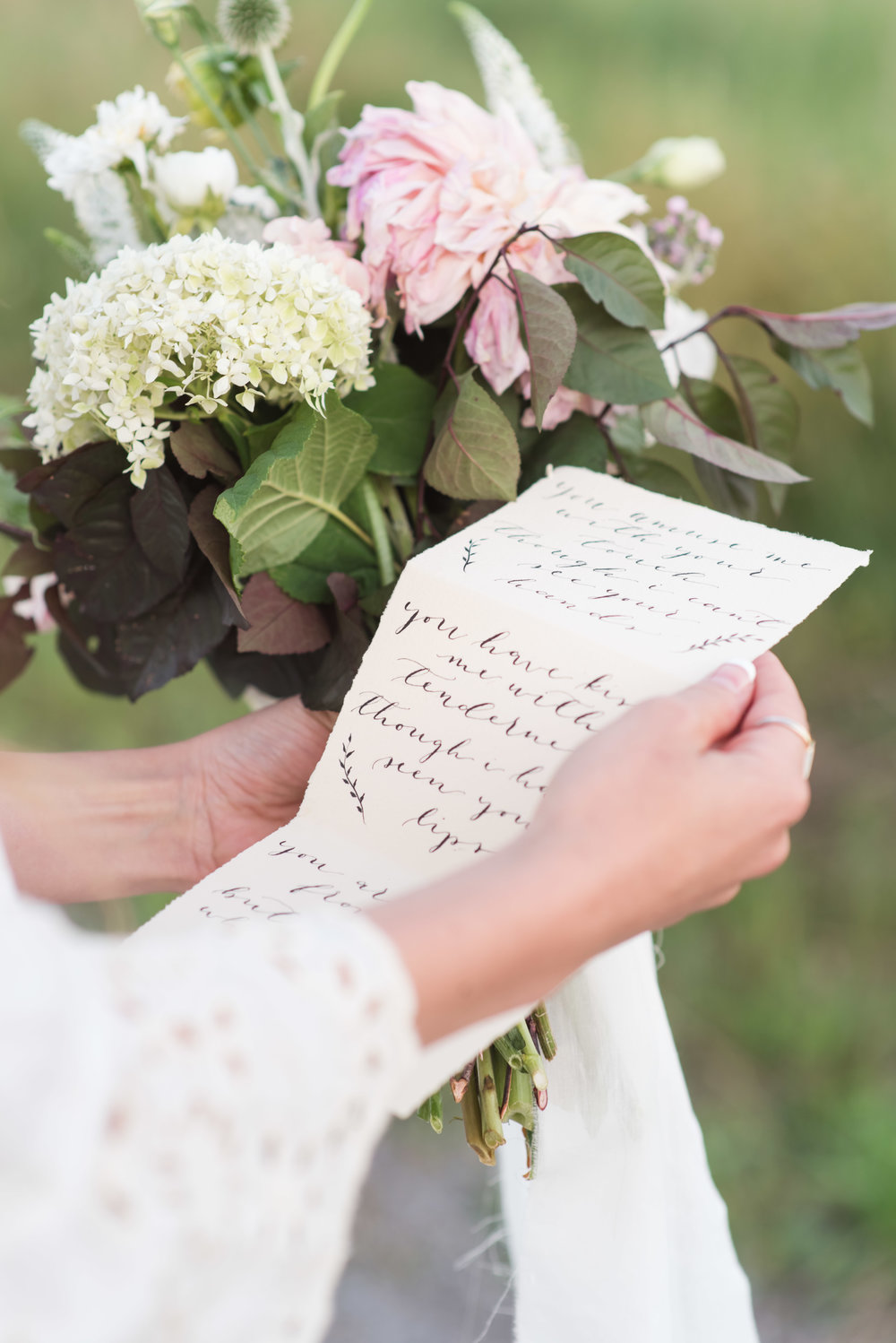Pointed Pen Modern Calligraphy Wedding Vows