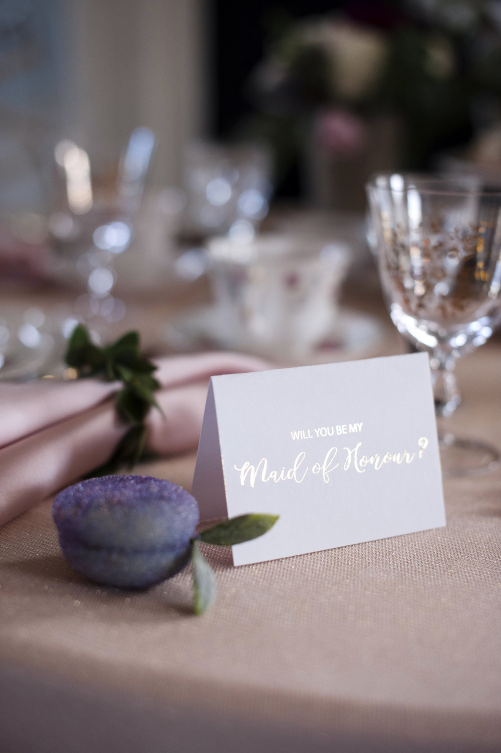Will You Be My Maid Of Honour Gold Foil Card