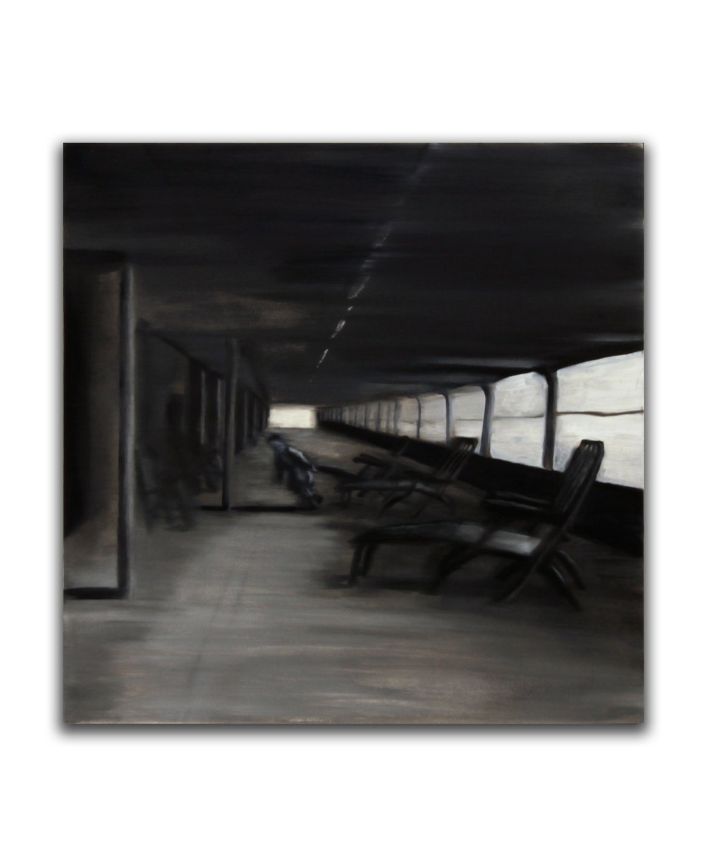 Rearranging Deckchairs. Oil on panel. 12 x 12 inches. 2009