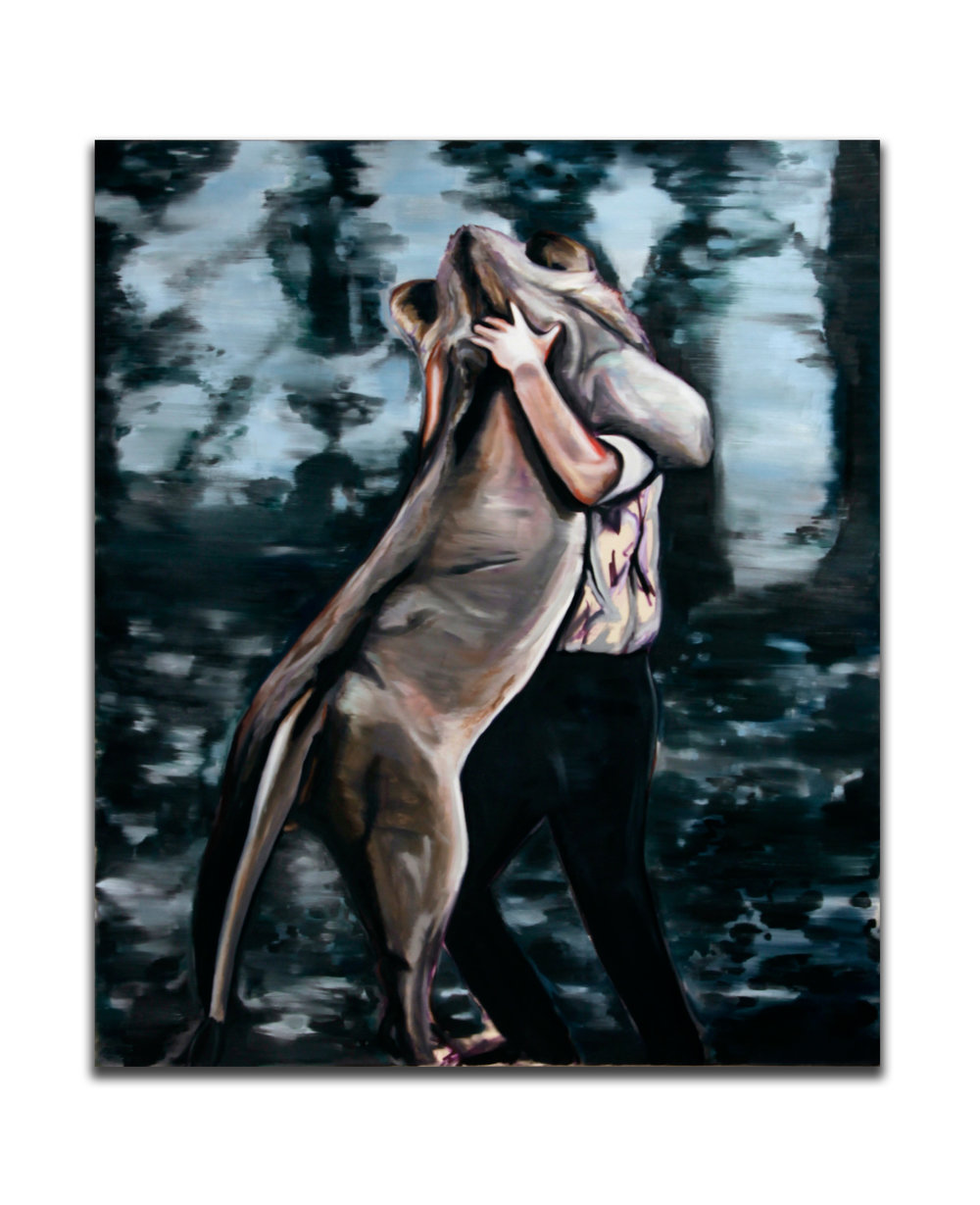 Embrace. Oil on canvas. 70 x 60 inches. 2008.