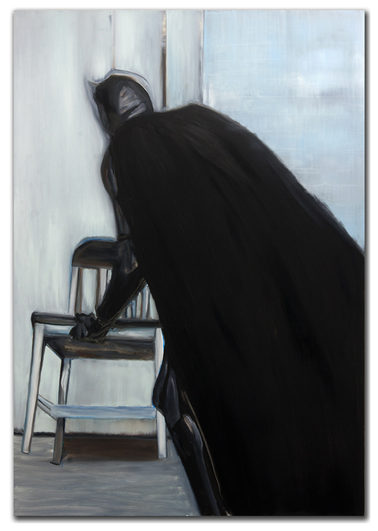 Black Finger. 2012. 72 x 52 in. Oil on canvas.