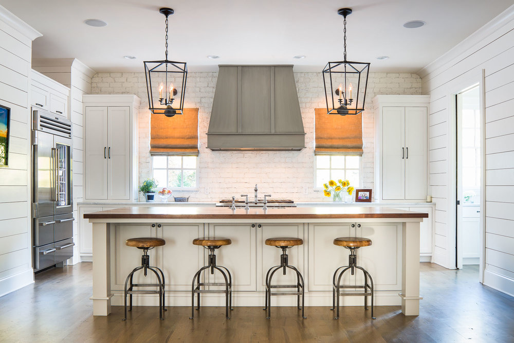Architectural Photography Kitchen Shiplap Brick (1 Of 1)