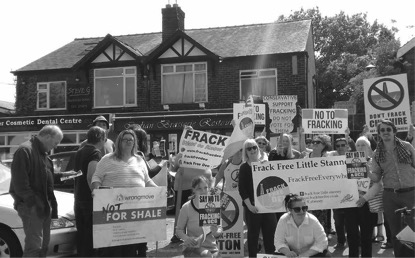 Anti-fracking activists in Upton, Cheshire         Photo:Matt Bryan
