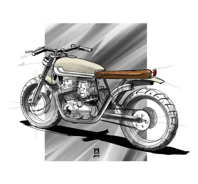 """""""La Ciguapa"""" Honda CB350"""