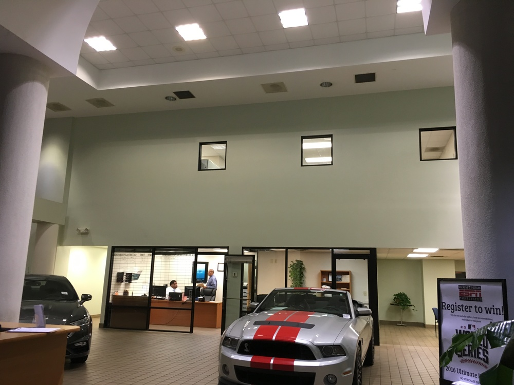 Auto dealer showroom decor