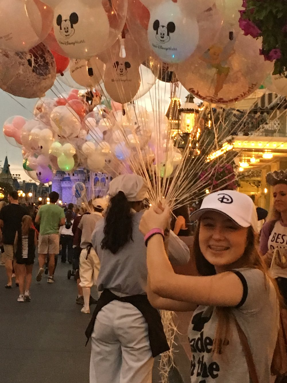 Yes, my kids love balloons too - Disney's Magic Kingdom