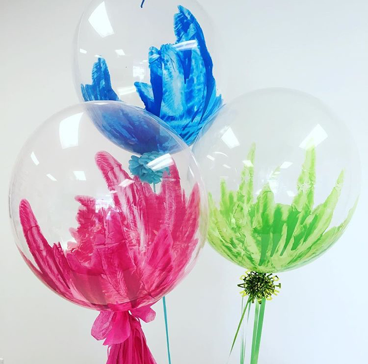 Custom Painted Balloons with fun embellishments