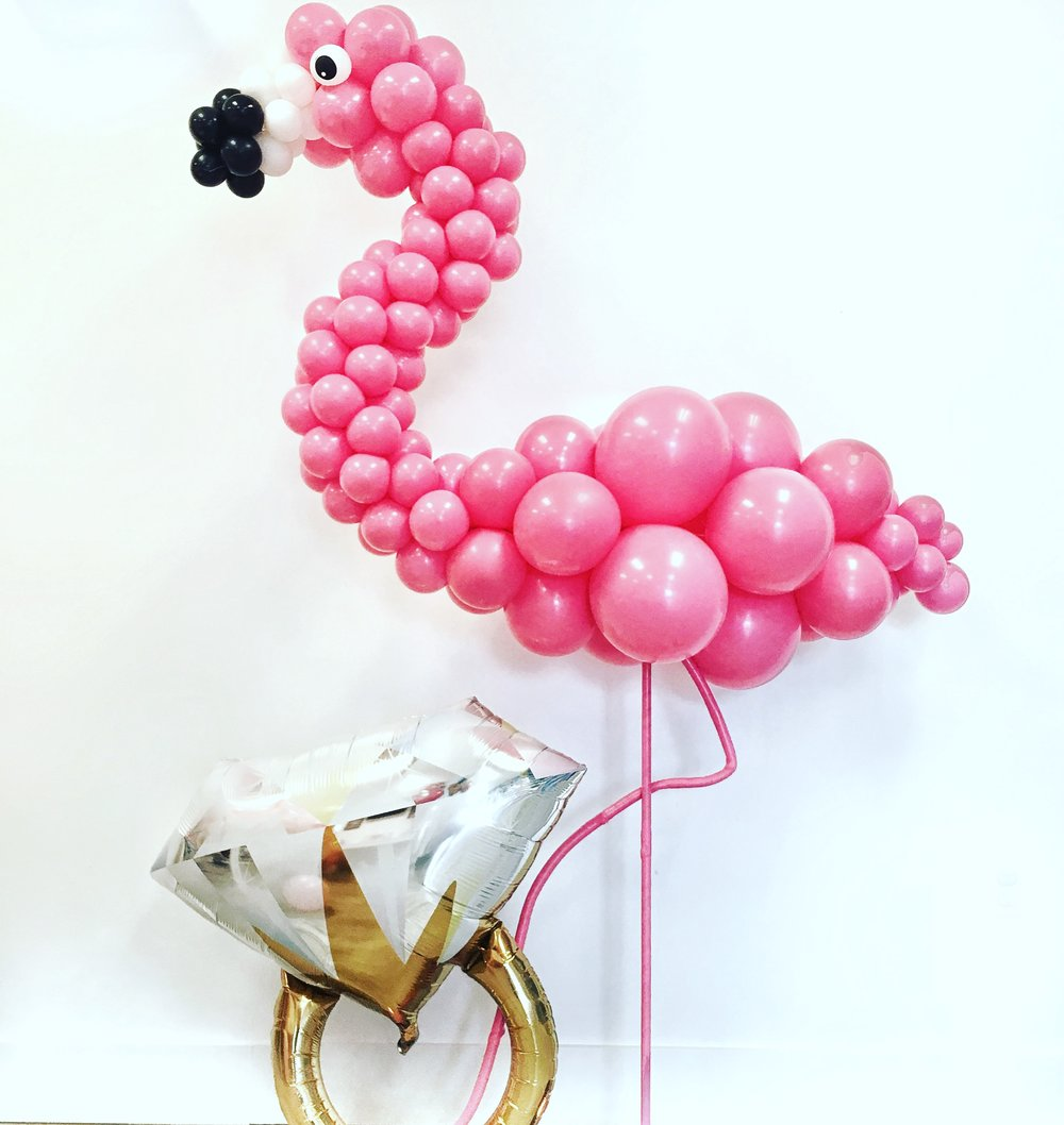 We thought this was such a fun theme...Final FLamINGo Before the Ring!