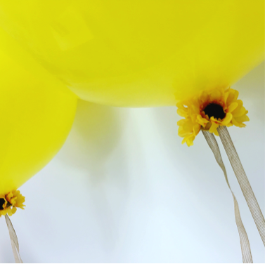 Sunflowers Accent Giant Round Balloons