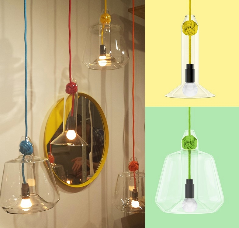Left: ©Detail Movement picture; Right: Vitamin Living Knot Pendant Lights Collection - images via asplashofcolour.com