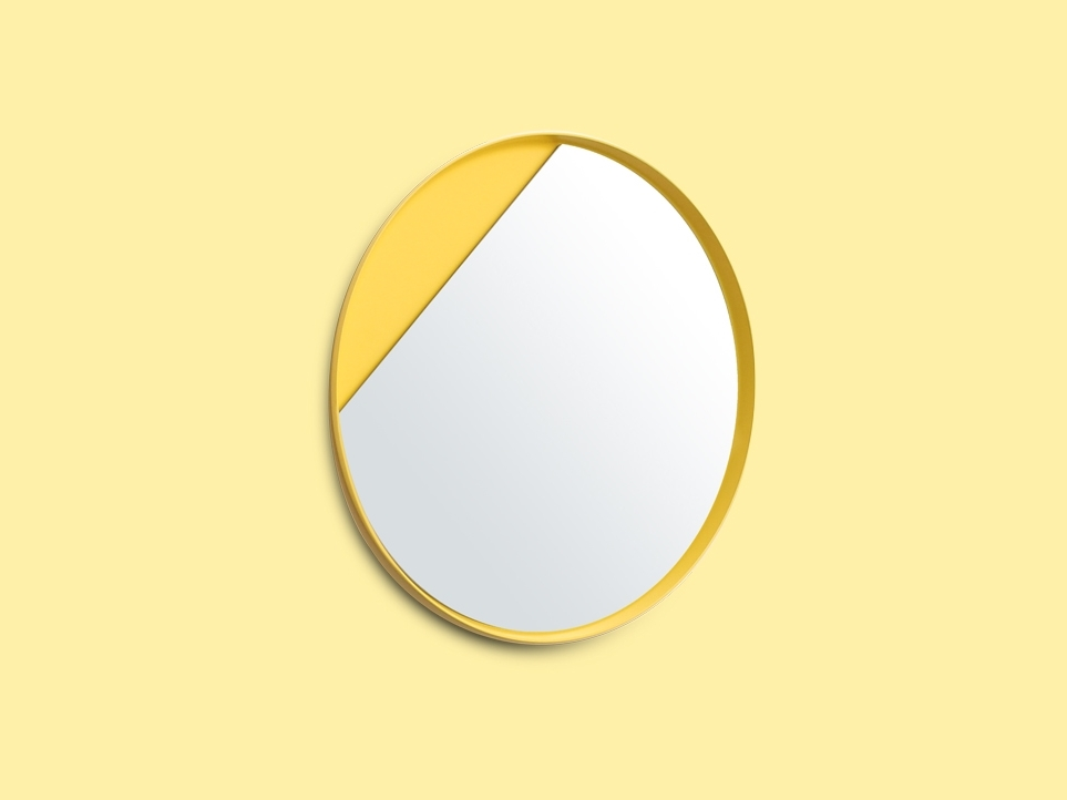 Vitamin Living Eclipse Mirror Yellow - image via asplashofcolour.com