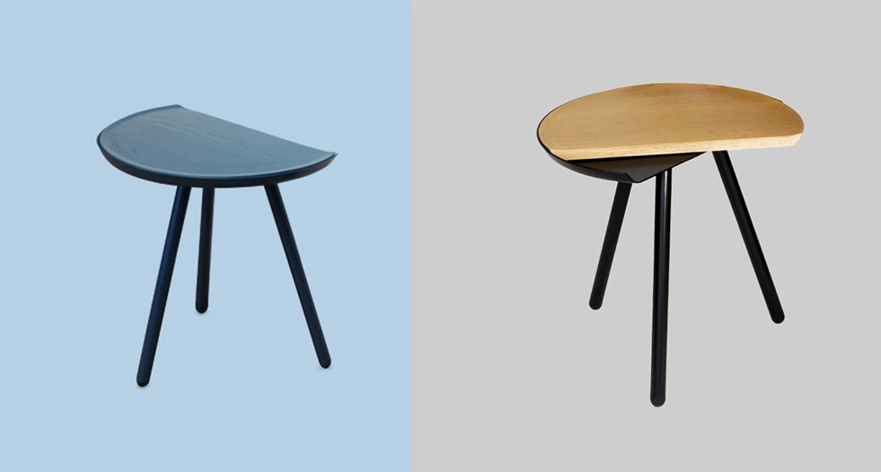 Vitamin Living Eclipse side tables - images via asplashofcolour.com