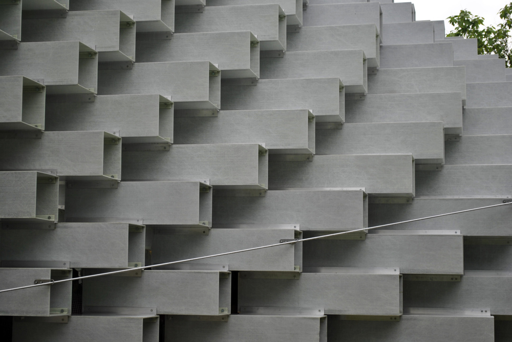 ©Detail Movement - Serpentine Gallery main pavilion by Bjarke Ingles Group - Fiberline profile boxes.