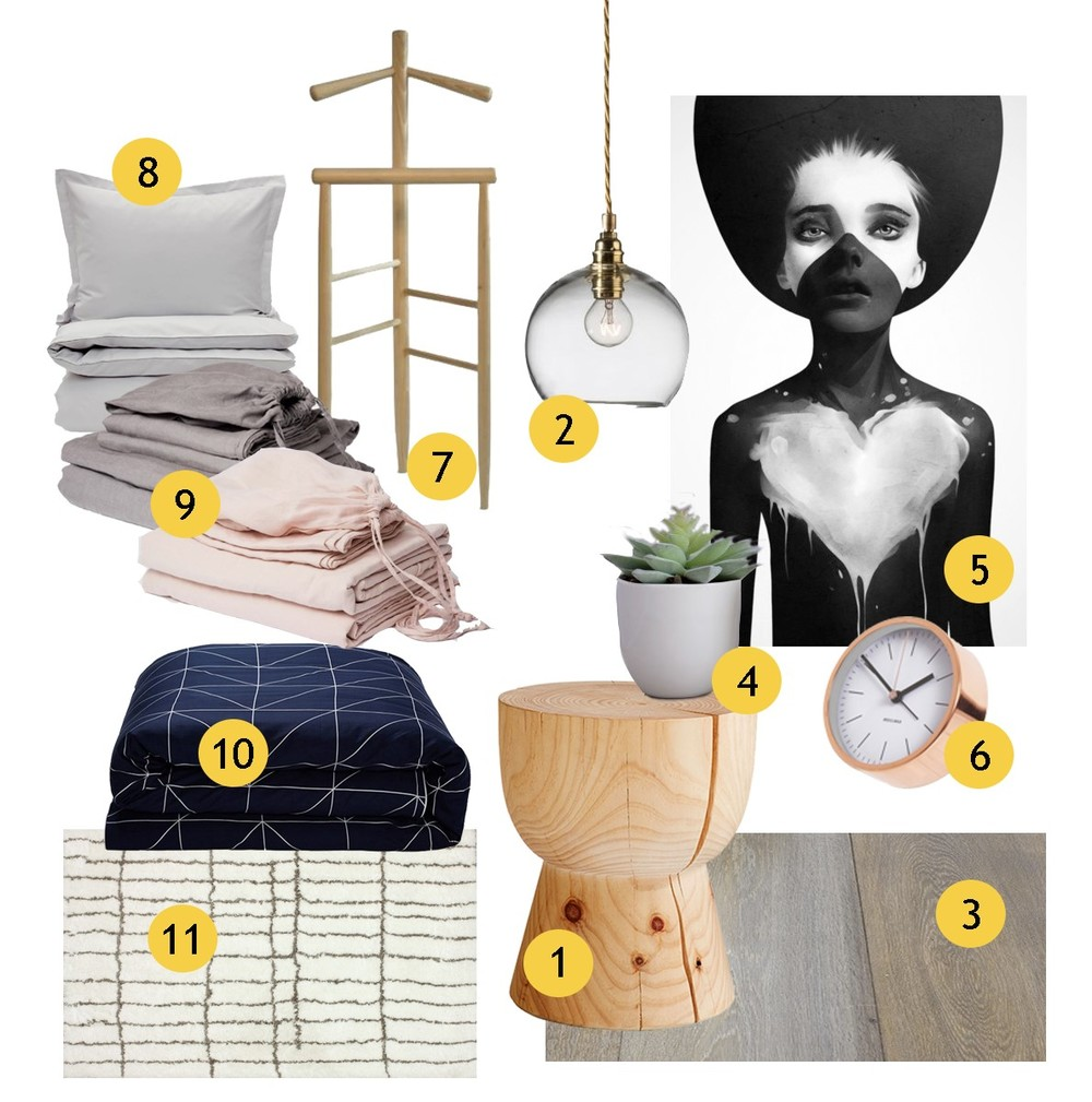 Get the look series no 1 - grey and pink bedroom
