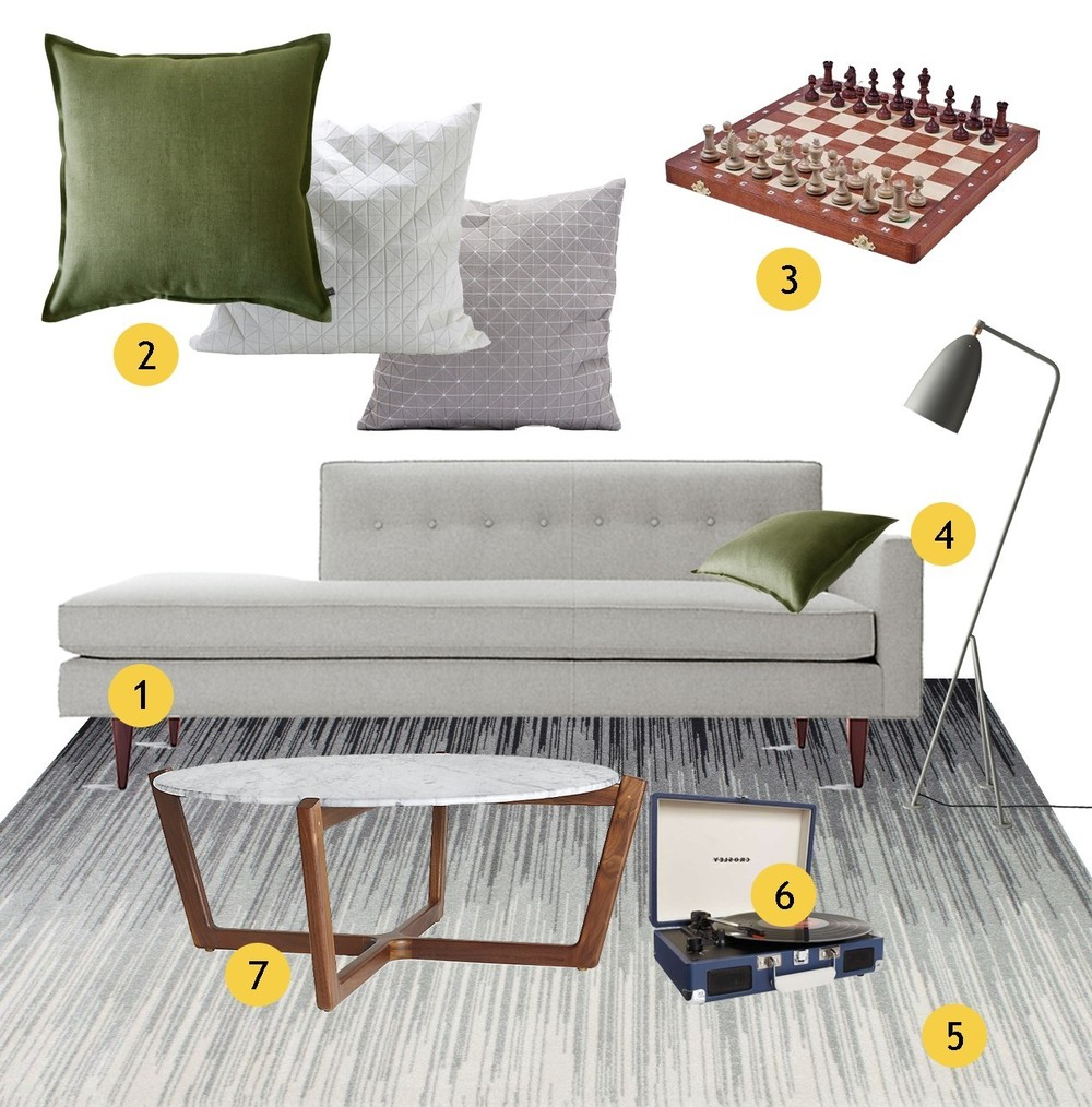 Get the look series no 2 - casual modern living room moodboard