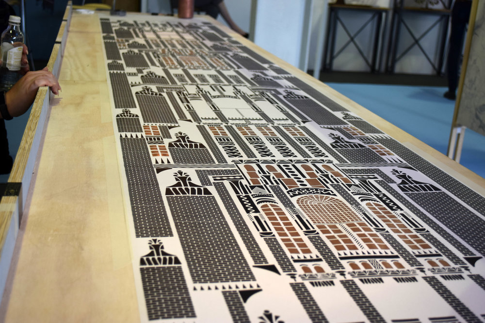 ©Detail Movement - LivetheStory - screen-printed wallpaper - how it's made