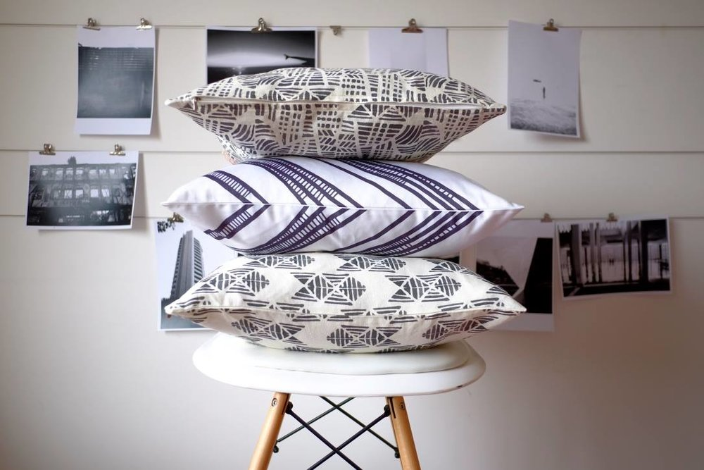 Halfdrop cushion designs - Photo via Halfdrop
