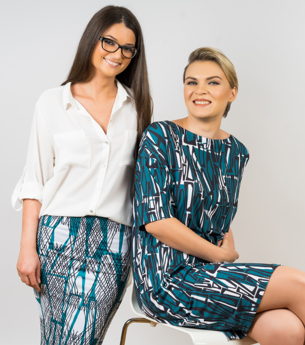 Halfdrop Team - Alexandra Petrache (left) and Alexandra Lazarescu (right) - Photo via Halfdrop