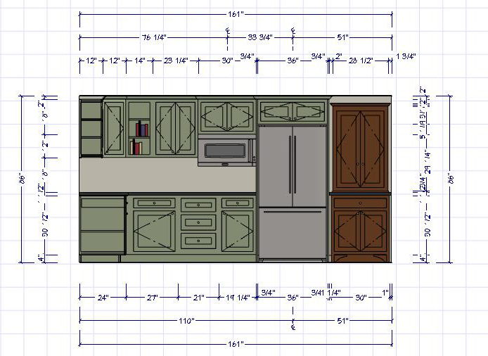 The first step in your kitchen design is the initial architectural drawing.