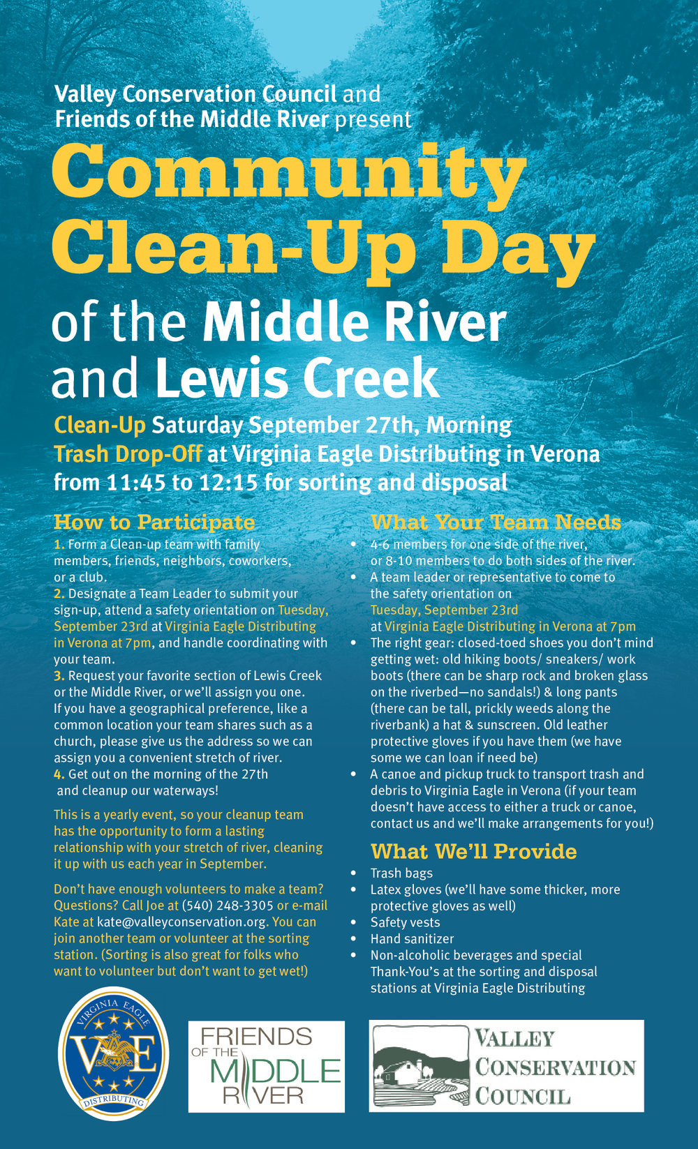 Valley Conservation Council Flyer
