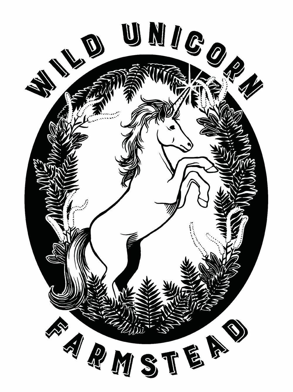 Wild Unicorn Farmstead Logo