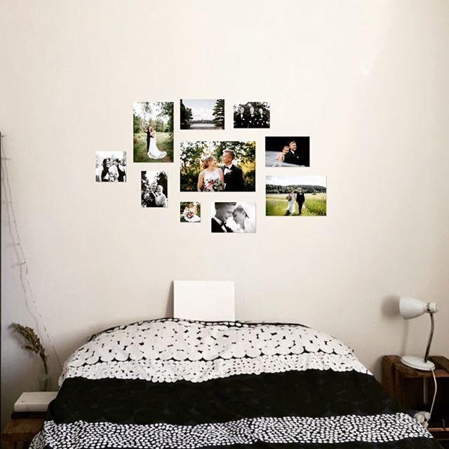 Miten teillä pidetään valokuvia esillä? Tässä inspiraatiota: tää upea kollaasi suunniteltiin yhdessä Mirjamin ja Villen kanssa heidän kotiinsa 😍 On parasta kun mun hääparit on luovia ja täynnä ideoita, tää oli käytännössä heidän suunnittelemansa. Tämä kuva on vasta suunnitelma, lopullinen toteutus fine art -printeistä tulee olemaan ihan mieletön ✨