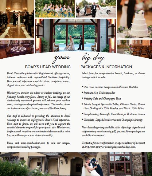 Bifold Wedding Brochure