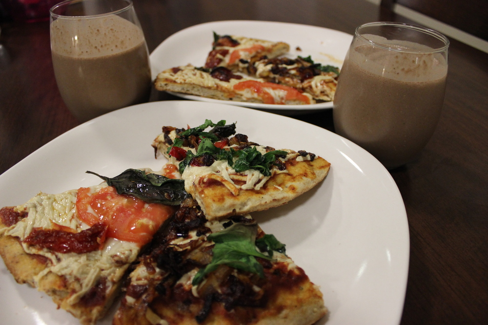 kava milkshakes and vegan pizza