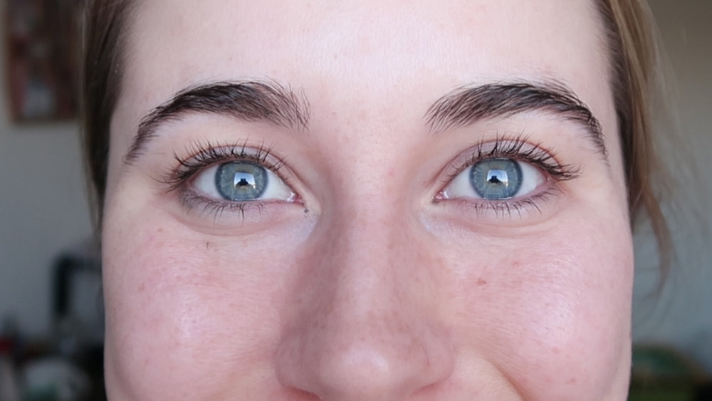 NO MAKEUP: My eyes became brighter and bluer!