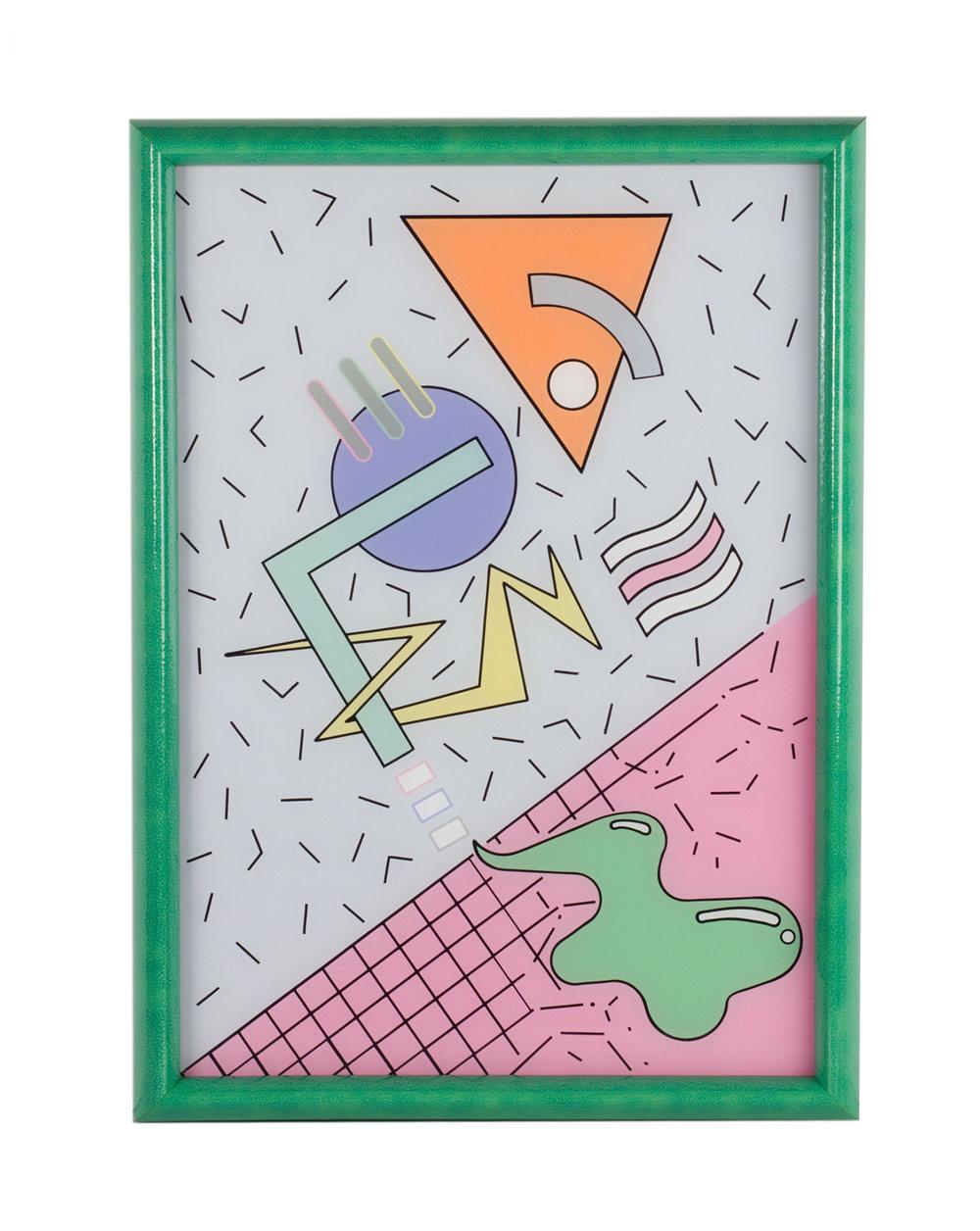 Smoker Joker, Reverse acrylic paint on plexiglass. 2015.jpeg