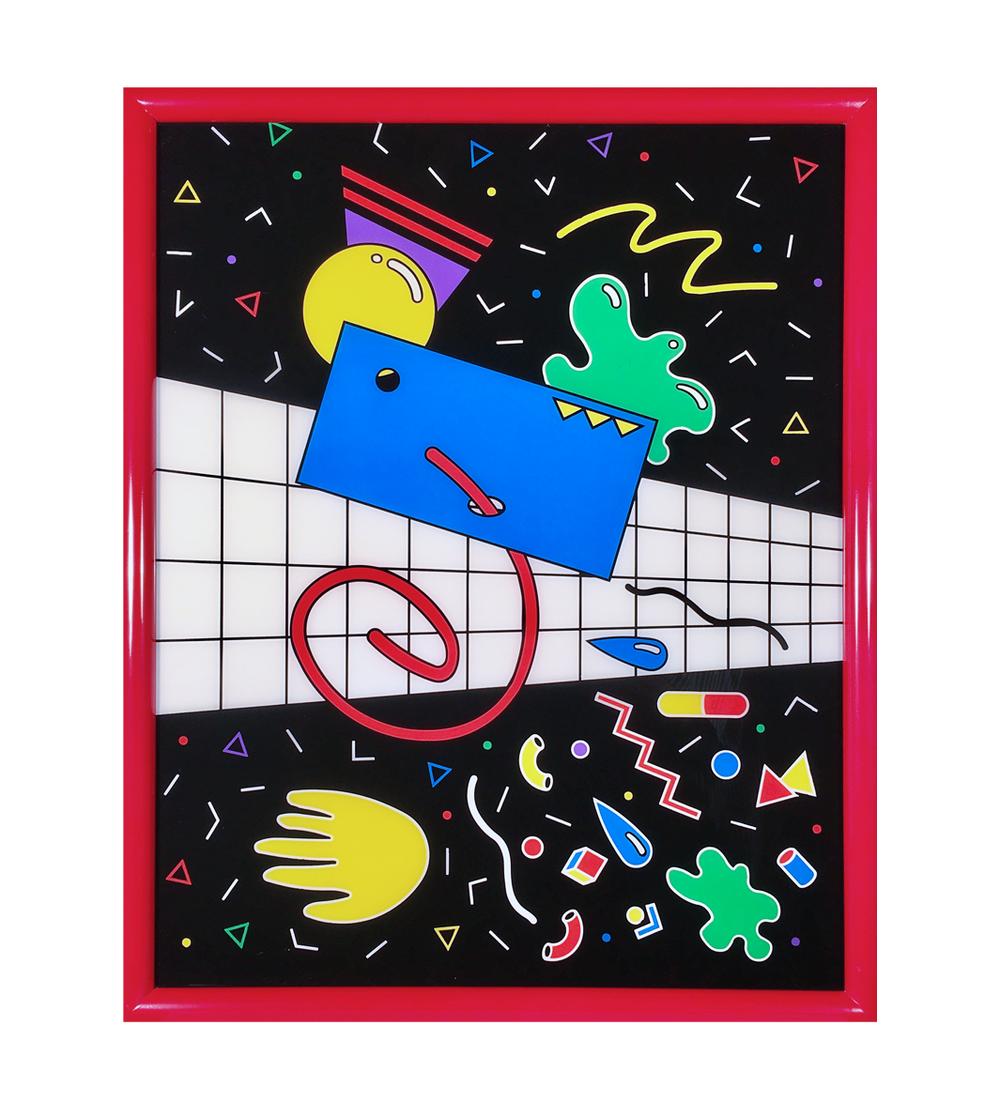 Toxic Talker, Reverse acrylic paint on plexiglass, 2016.png