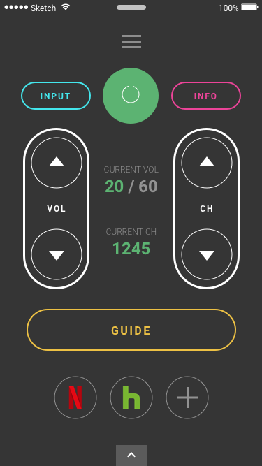Smart phone interface for a TV remote (part 1).