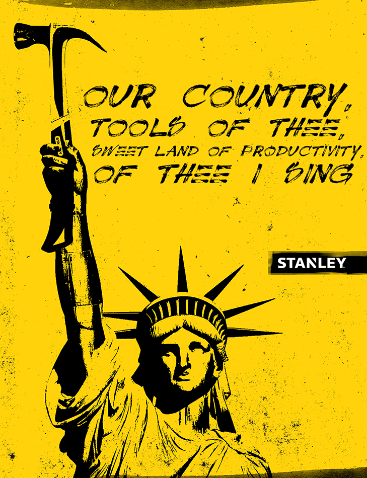 Concept: American icon being integrated with a Stanley tool. (National Pride)