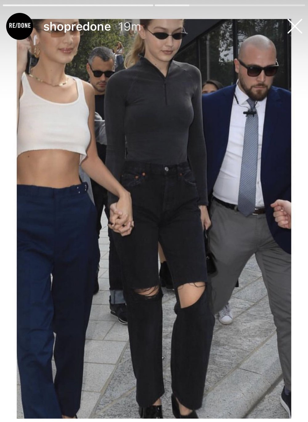 Gigi Hadid in Re/Done Original's Grunge Jean